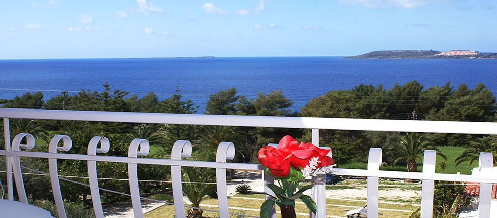 Panoramic views overlooking the sea from all studios.
